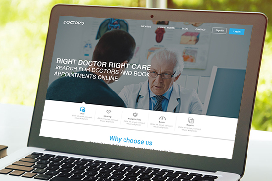 PSD MARKUP Website design and development services for doctors & Hospitals